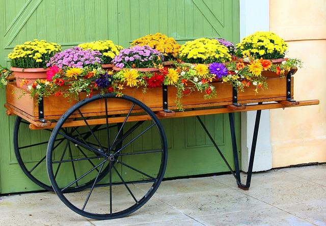 květinový vozík