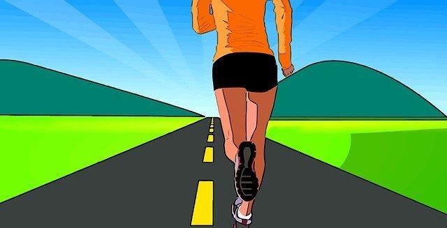 běžkyně na silnici
