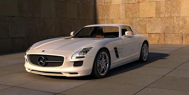 sportovní Mercedes