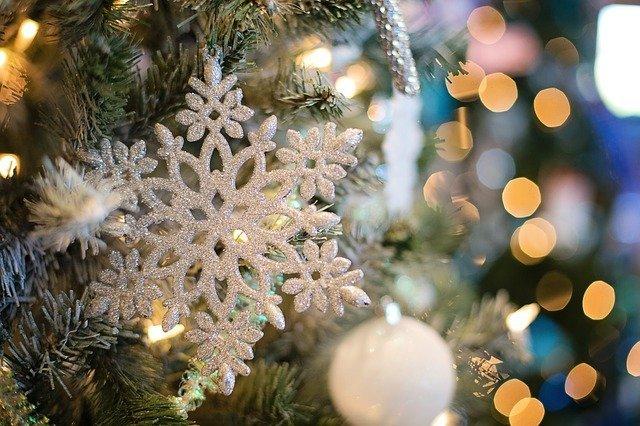sněhová vločka na stromku