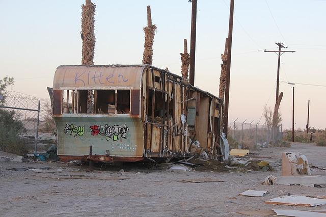 vybydlený karavan