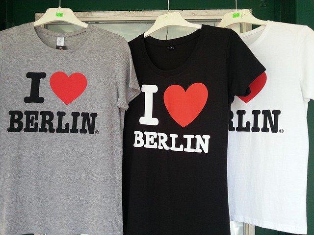 tričko s nápisem I Love Berlin