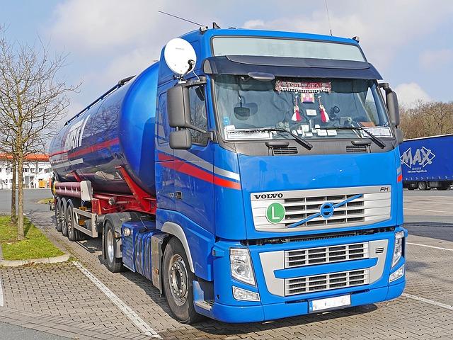 Cisterna kamionového typu v Evropě