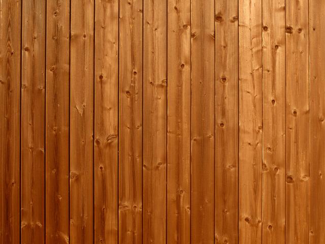 stěna z palubek – detail