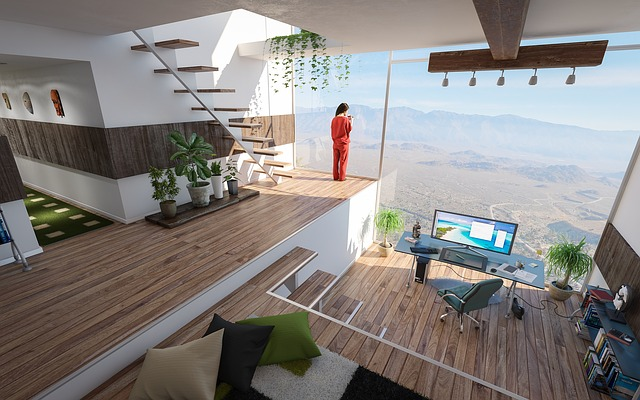 moderní prosklený byt