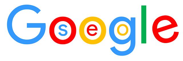 Nápis Google se SEO uvnitř