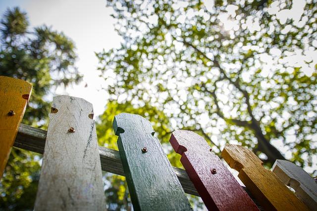 natřený plot