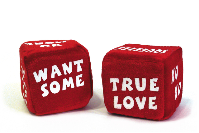 red dice asking for a true love