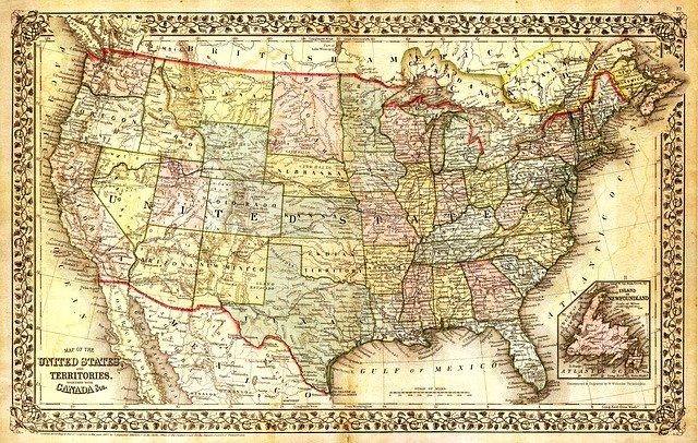 mapa nástěnná